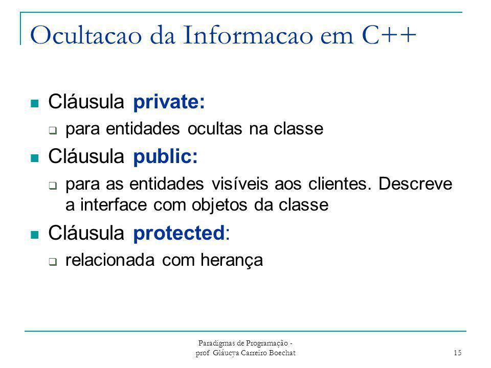 Ocultacao da Informacao em C++