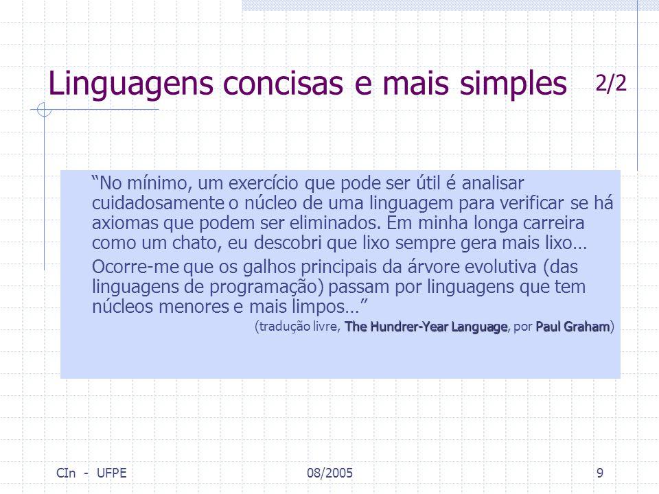 Linguagens concisas e mais simples