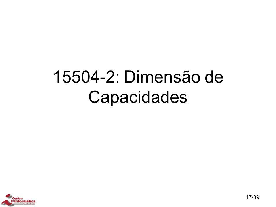 15504-2: Dimensão de Capacidades