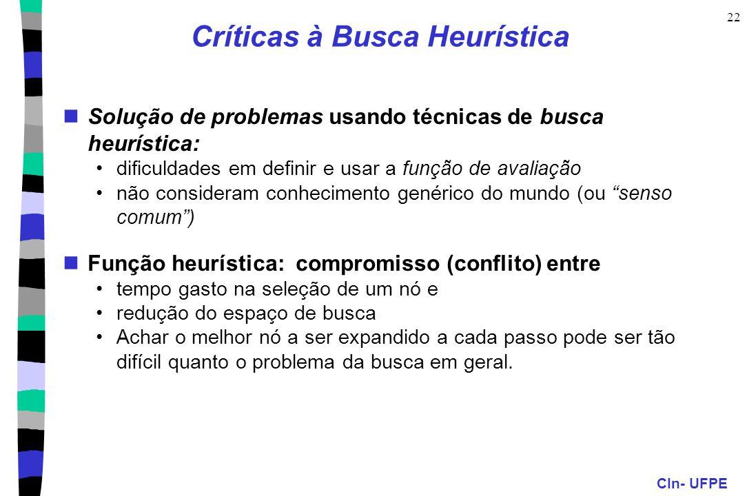 Críticas à Busca Heurística