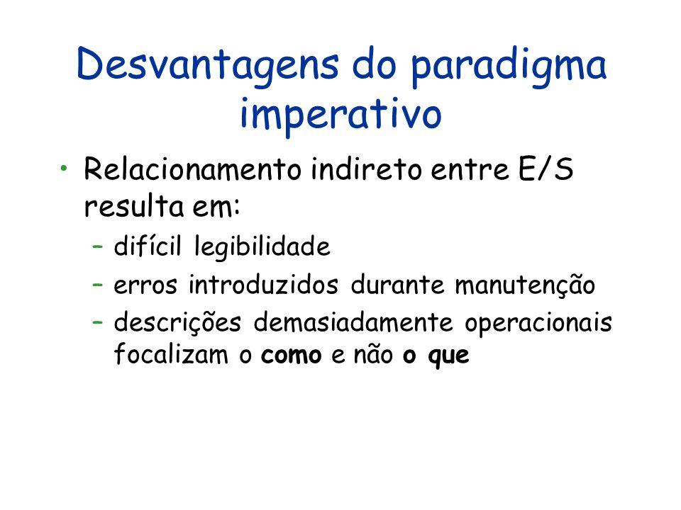 Desvantagens do paradigma imperativo