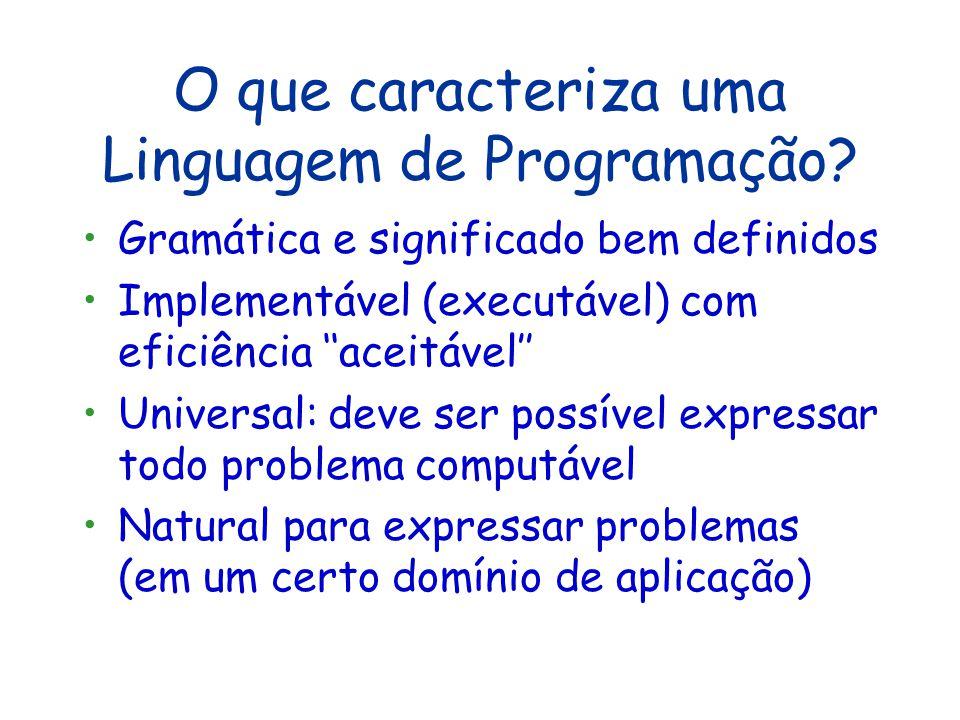 O que caracteriza uma Linguagem de Programação