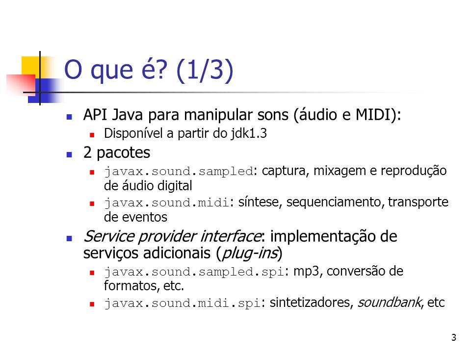 O que é (1/3) API Java para manipular sons (áudio e MIDI): 2 pacotes