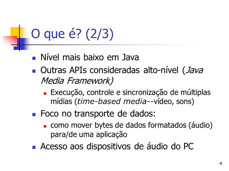O que é (2/3) Nível mais baixo em Java