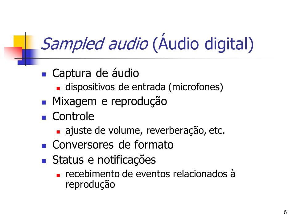 Sampled audio (Áudio digital)