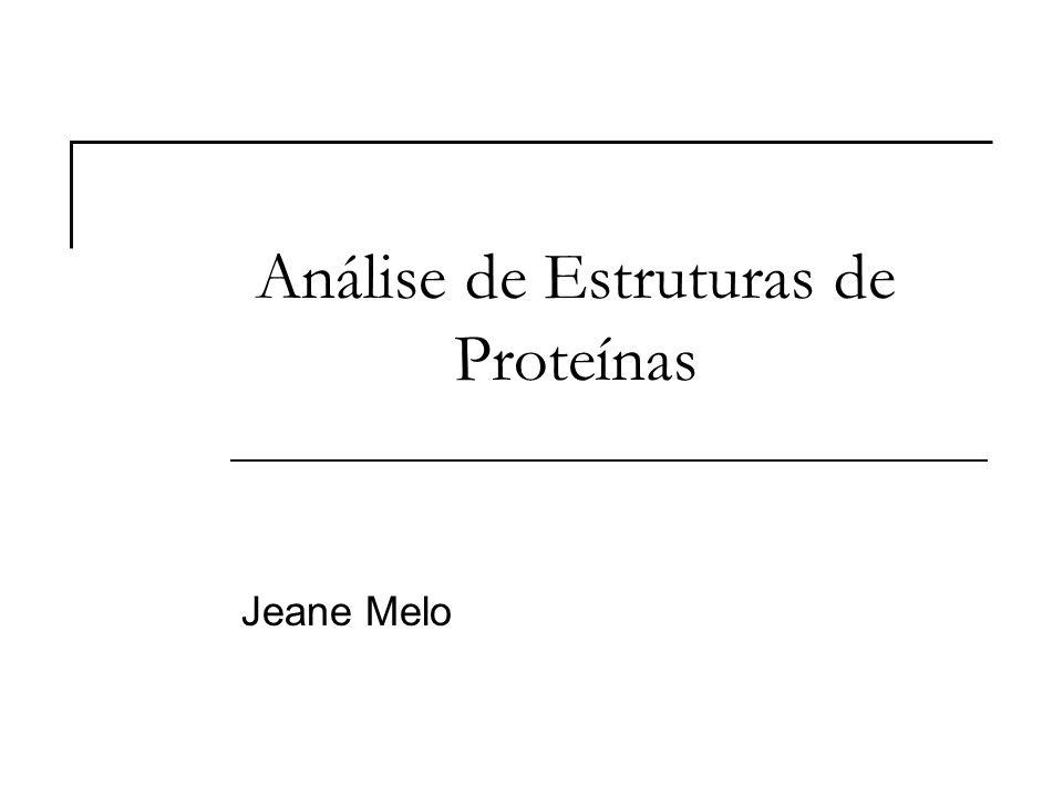 Análise de Estruturas de Proteínas