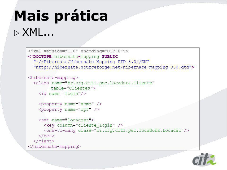 Mais prática XML... < xml version= 1.0 encoding= UTF-8 >