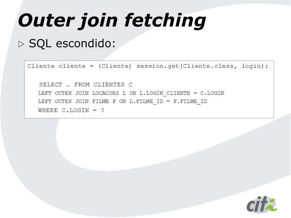 Outer join fetching SQL escondido: