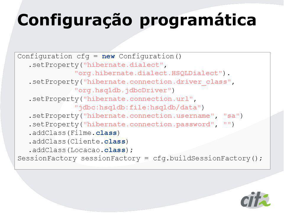 Configuração programática