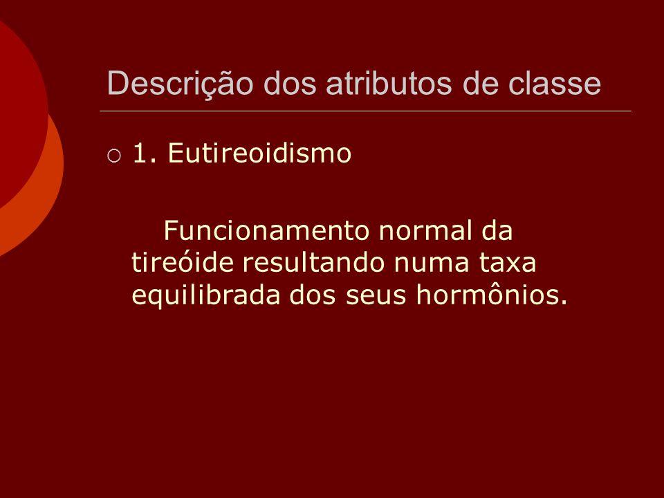 Descrição dos atributos de classe