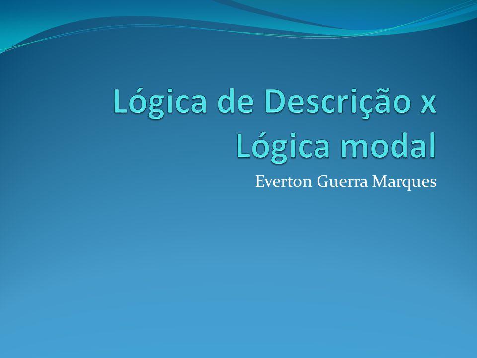 Lógica de Descrição x Lógica modal