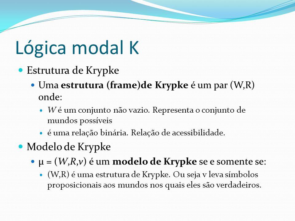 Lógica modal K Estrutura de Krypke Modelo de Krypke