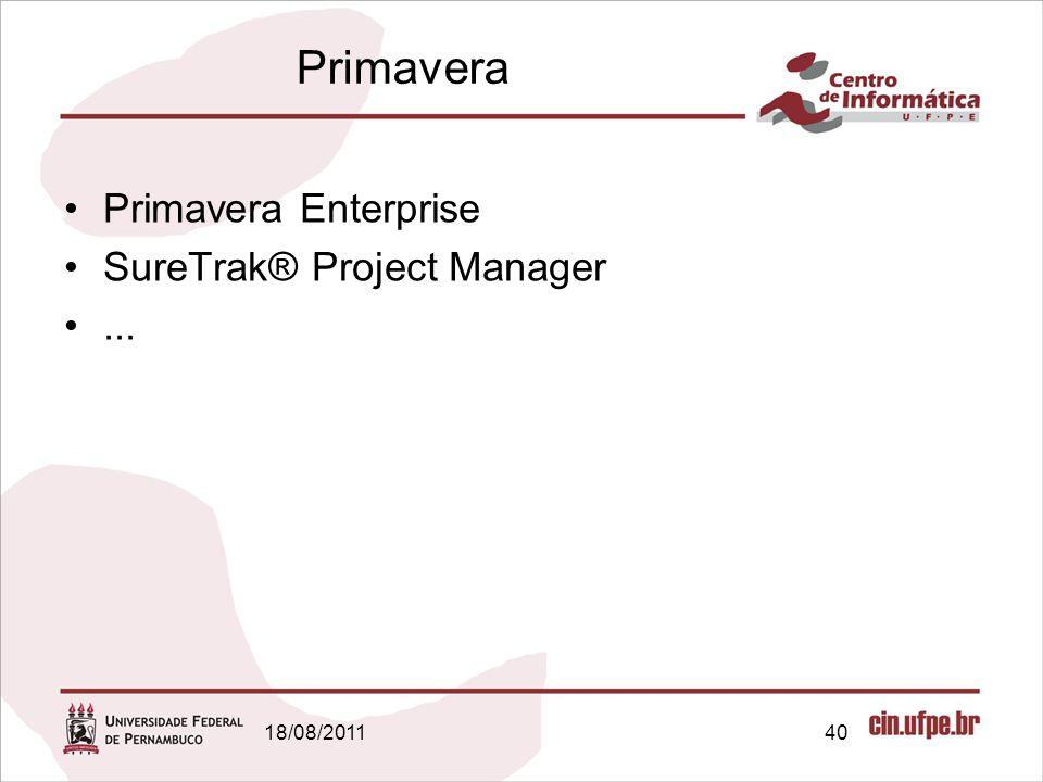 Primavera Primavera Enterprise SureTrak® Project Manager ...