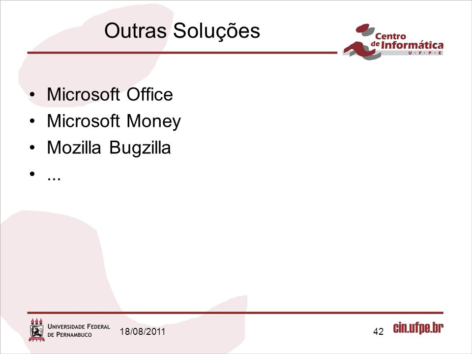 Outras Soluções Microsoft Office Microsoft Money Mozilla Bugzilla ...