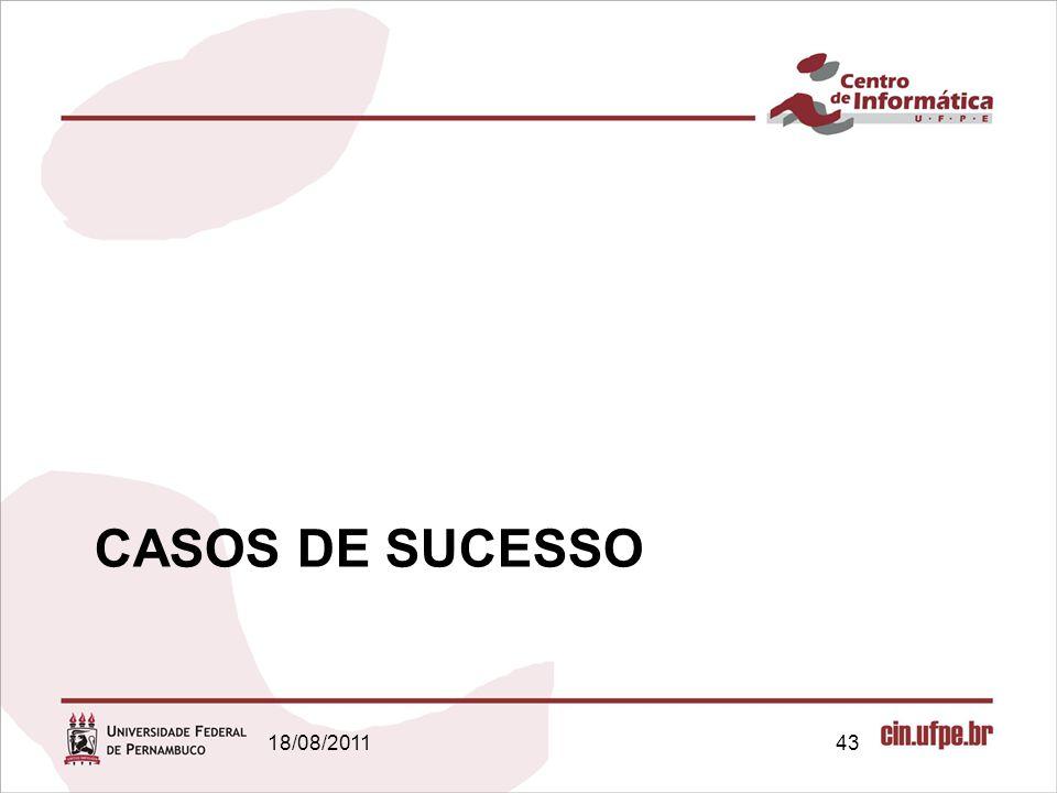 CASOS DE SUCESSO 18/08/2011 Gestão de Projetos | Conceitos Básicos 43