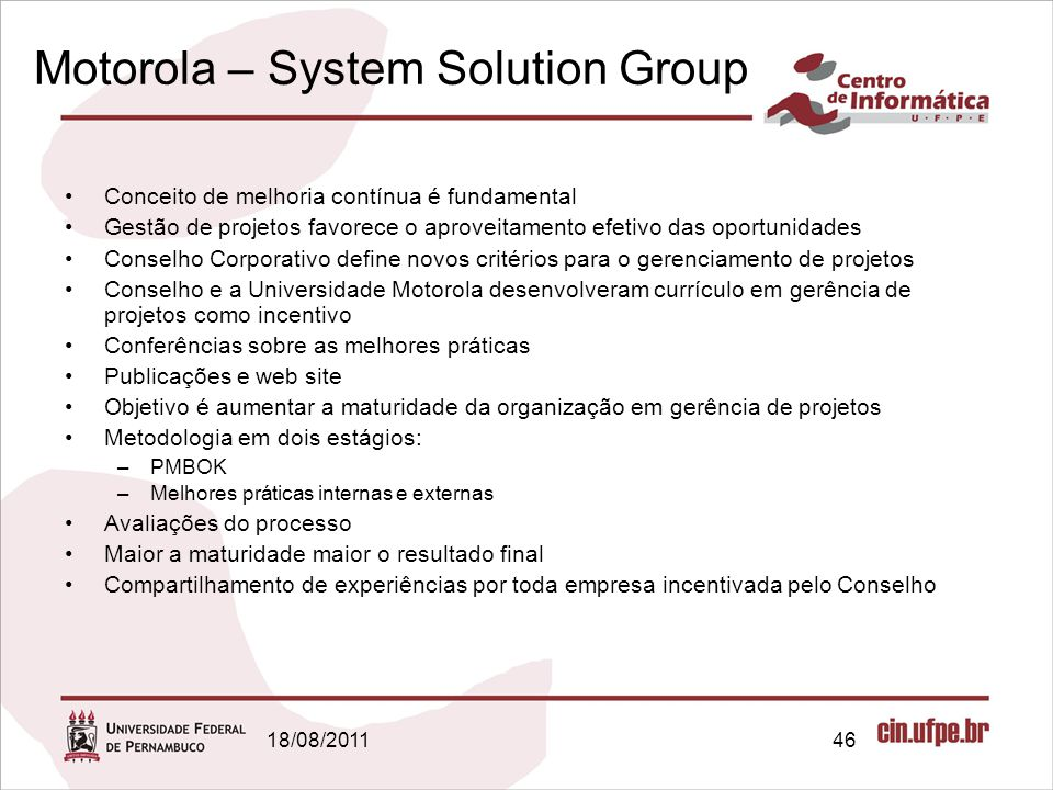 Motorola – System Solution Group
