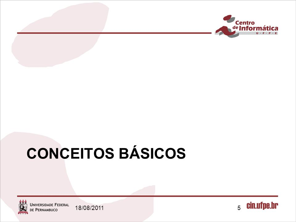 CONCEITOS BÁSICOS 18/08/2011