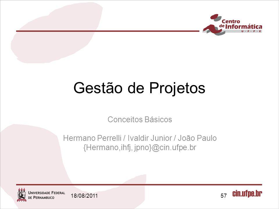 Gestão de Projetos Conceitos Básicos