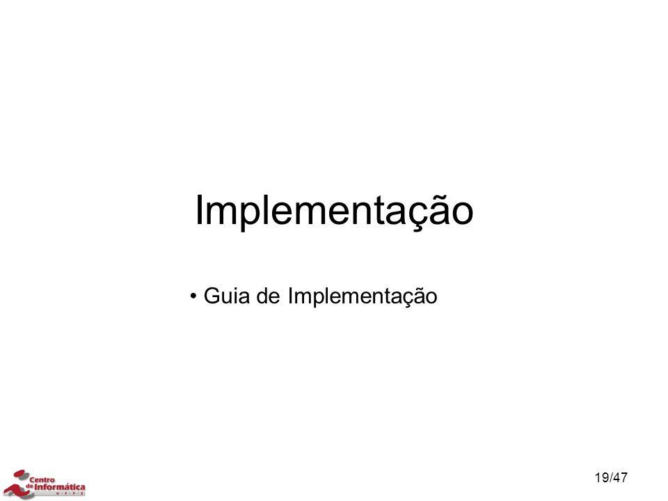 Implementação Guia de Implementação
