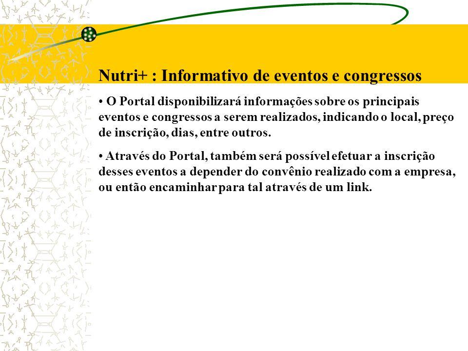 Nutri+ : Informativo de eventos e congressos
