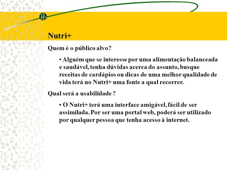 Nutri+ Quem é o público alvo