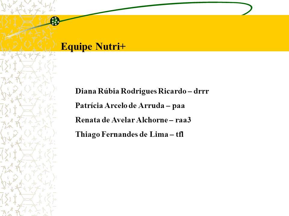 Equipe Nutri+ Diana Rúbia Rodrigues Ricardo – drrr