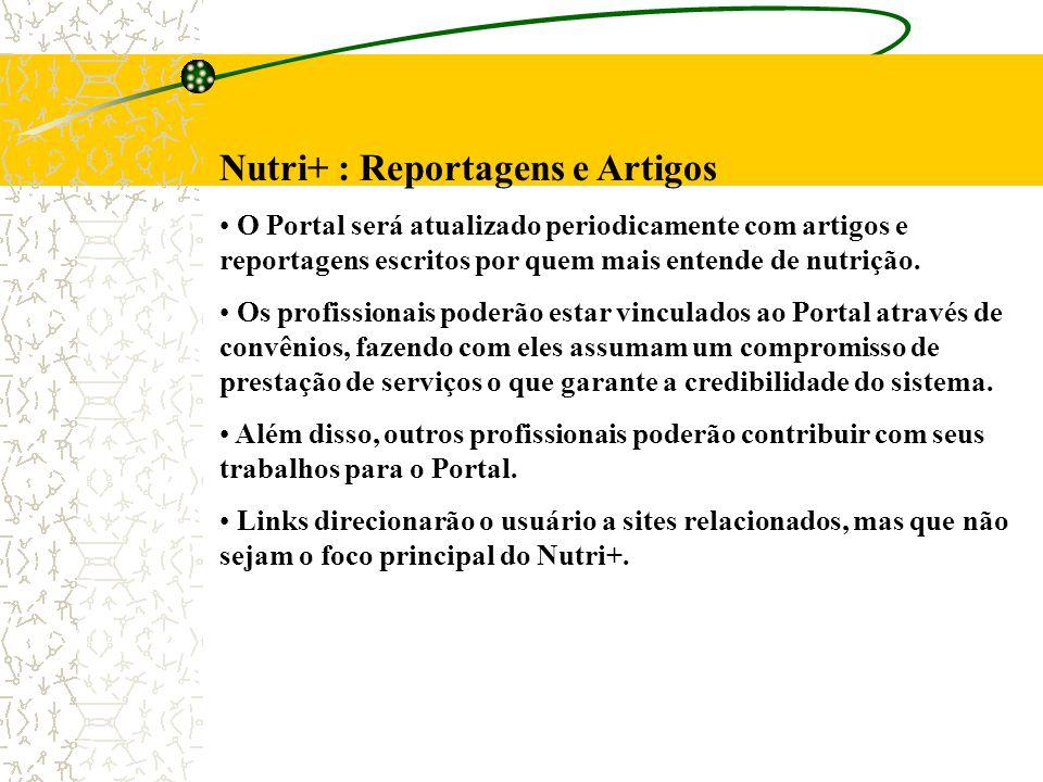 Nutri+ : Reportagens e Artigos