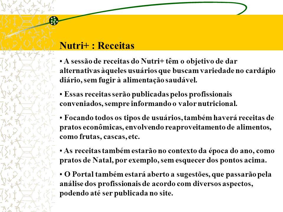 Nutri+ : Receitas