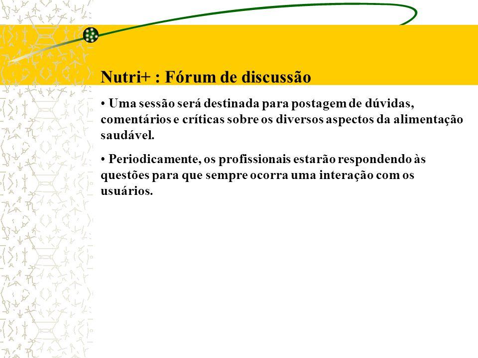Nutri+ : Fórum de discussão