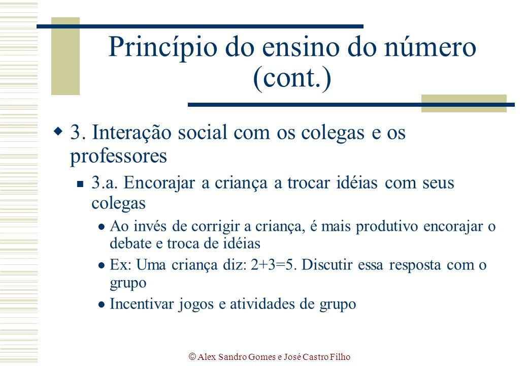 Princípio do ensino do número (cont.)