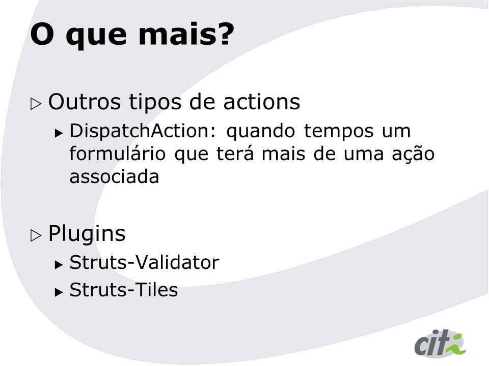 O que mais Outros tipos de actions Plugins
