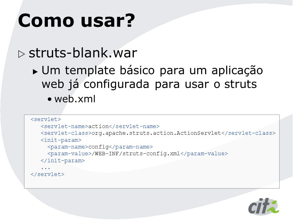 Como usar struts-blank.war