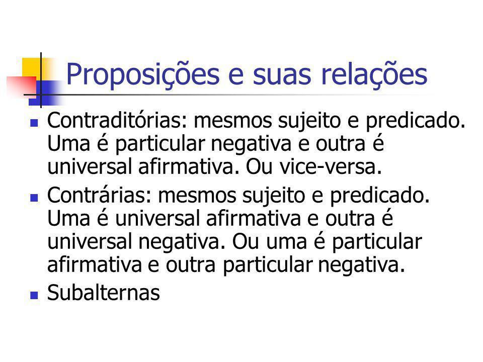 Proposições e suas relações