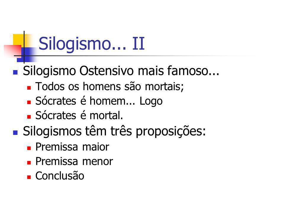 Silogismo... II Silogismo Ostensivo mais famoso...