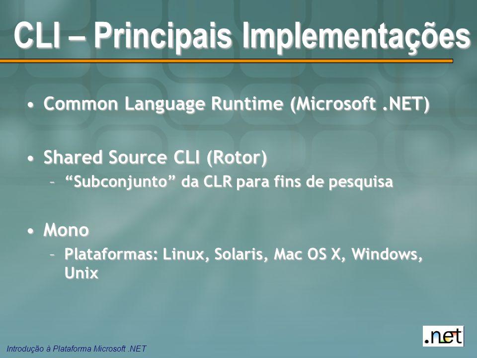 CLI – Principais Implementações