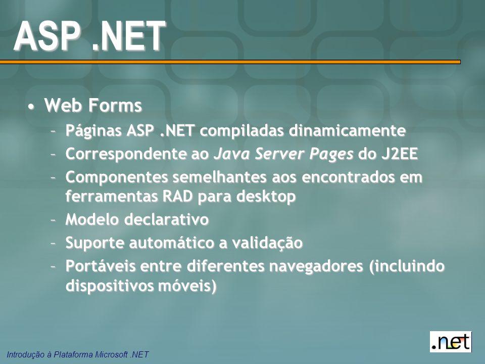 ASP .NET Web Forms Páginas ASP .NET compiladas dinamicamente