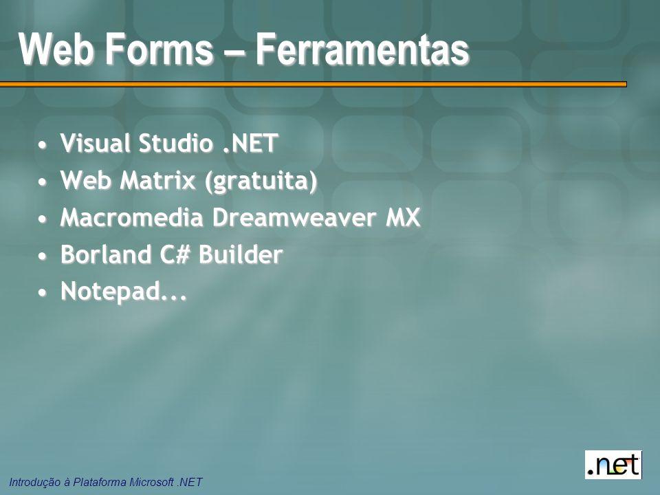 Web Forms – Ferramentas