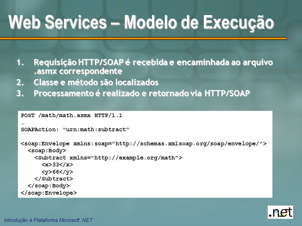 Web Services – Modelo de Execução