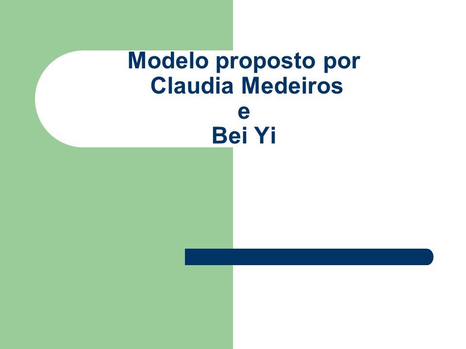 Modelo proposto por Claudia Medeiros e Bei Yi