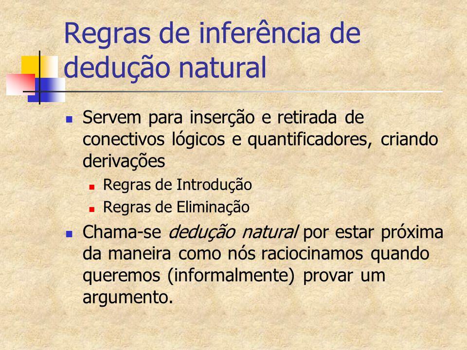 Regras de inferência de dedução natural