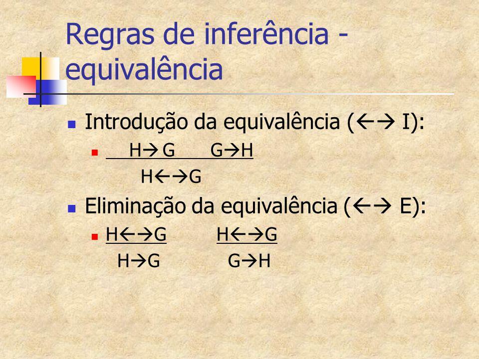 Regras de inferência - equivalência