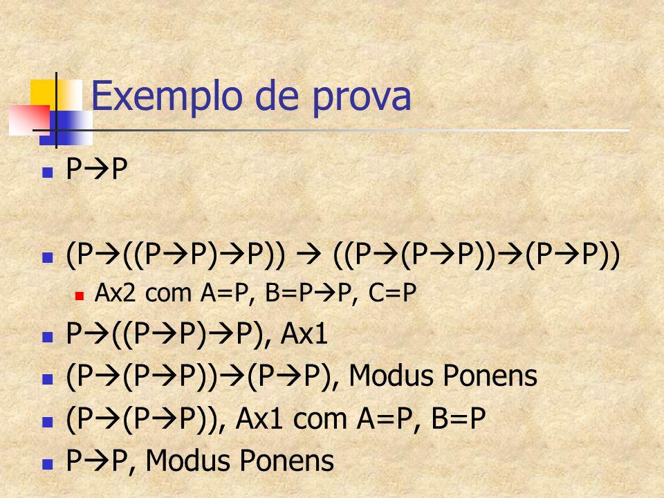 Exemplo de prova PP (P((PP)P))  ((P(PP))(PP))