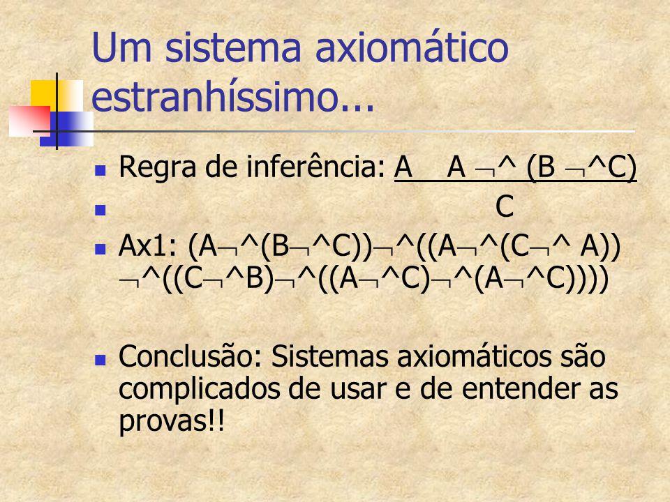 Um sistema axiomático estranhíssimo...