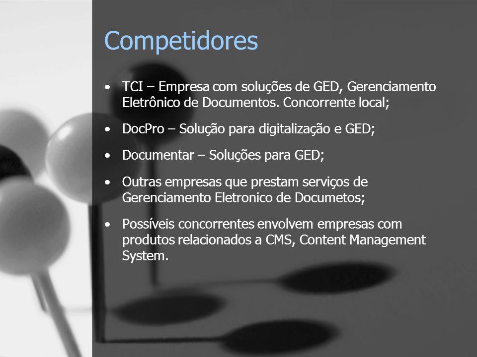 Competidores TCI – Empresa com soluções de GED, Gerenciamento Eletrônico de Documentos. Concorrente local;