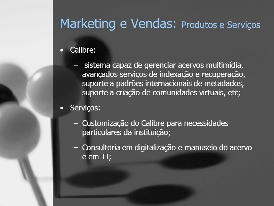 Marketing e Vendas: Produtos e Serviços