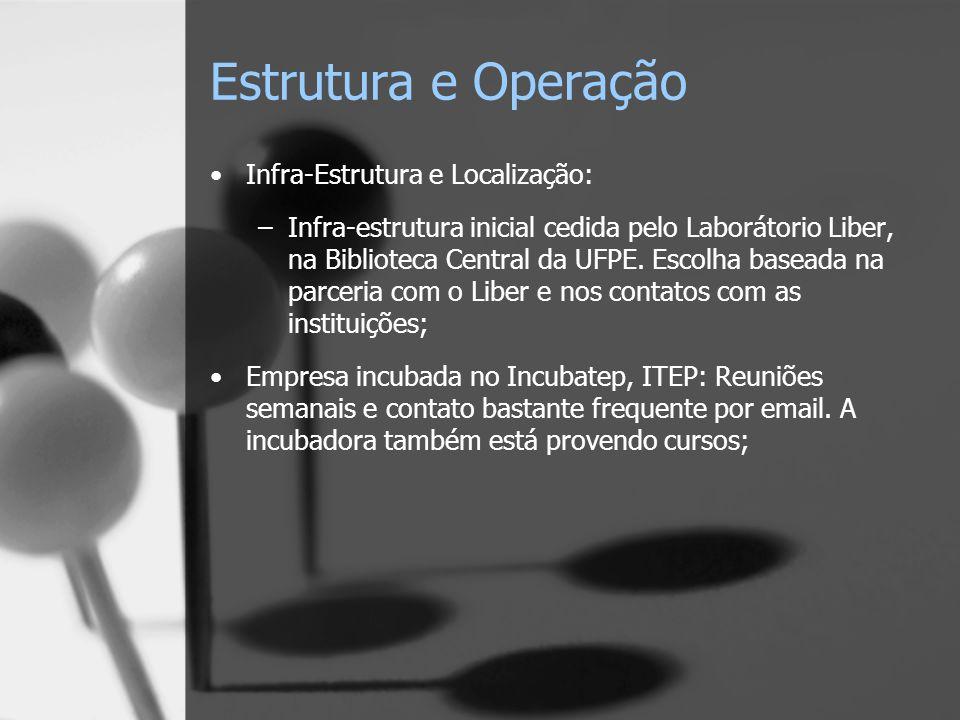 Estrutura e Operação Infra-Estrutura e Localização: