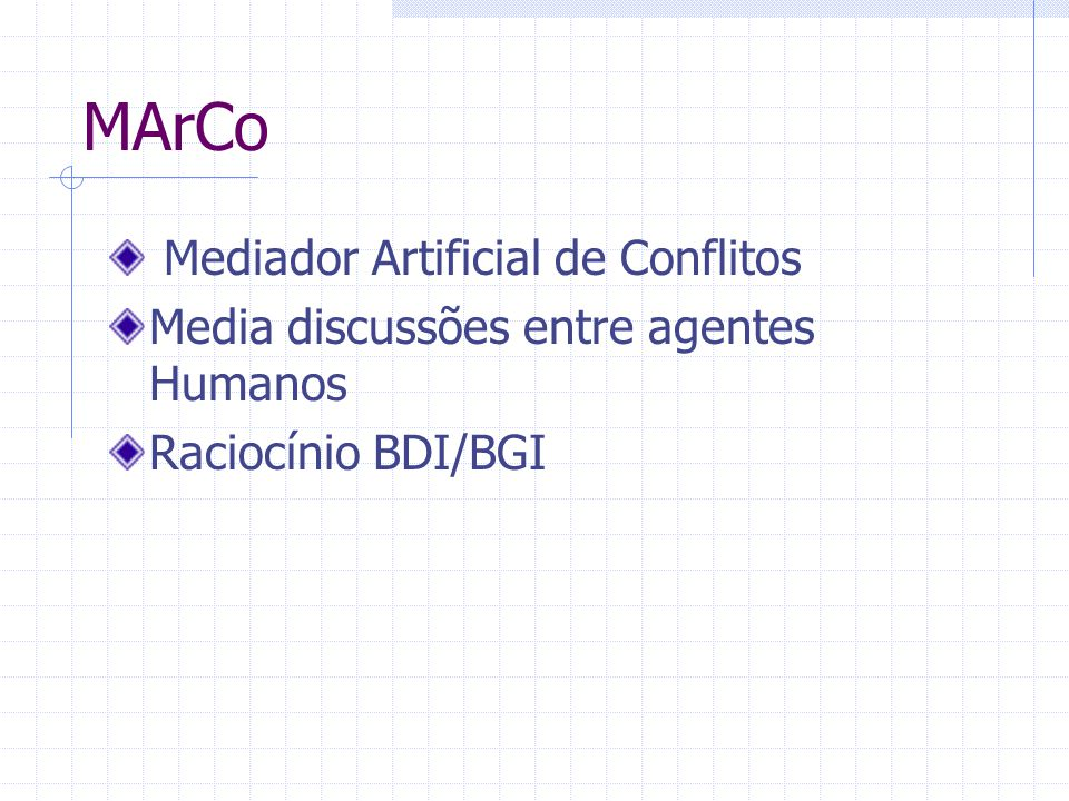 MArCo Mediador Artificial de Conflitos