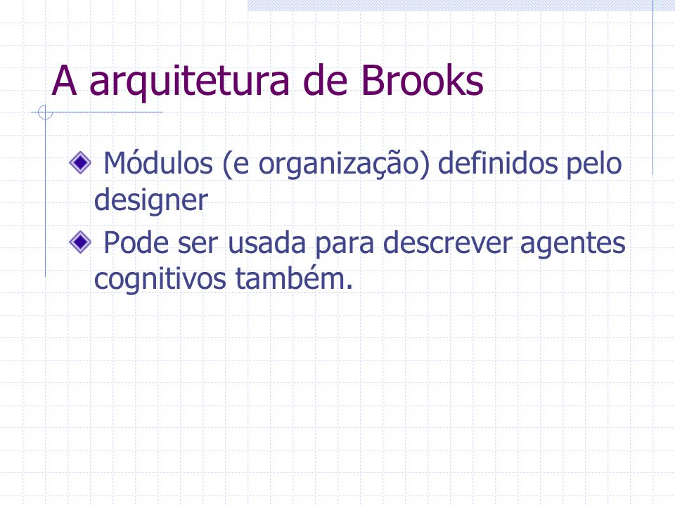 A arquitetura de Brooks