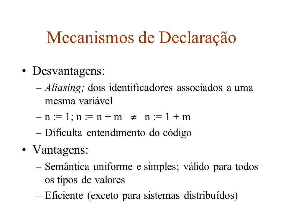 Mecanismos de Declaração