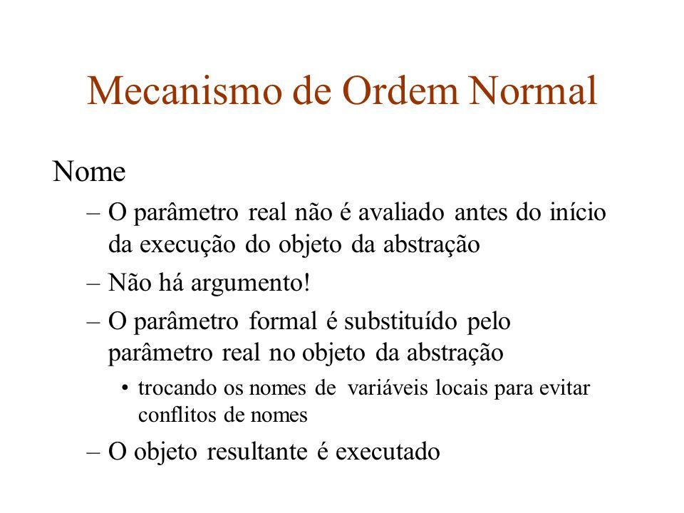 Mecanismo de Ordem Normal